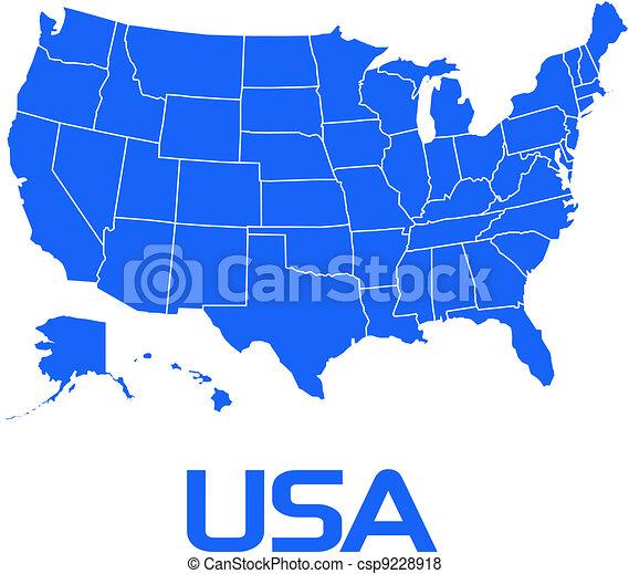 Map USA - csp9228918