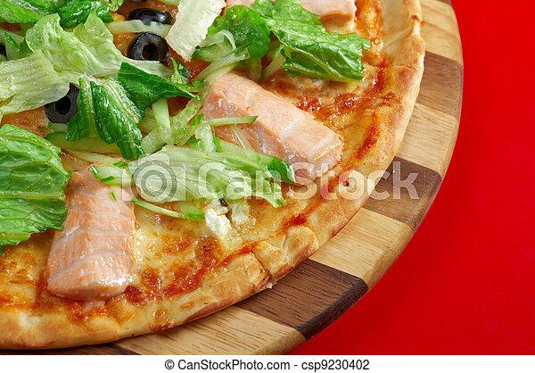 Pizza Atlantic salmon  - csp9230402