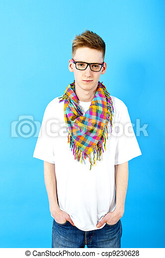 young man with eye glasses - csp9230628