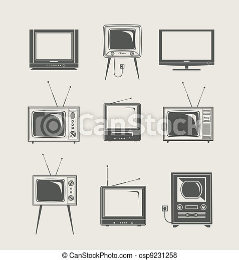 tv set icon - csp9231258