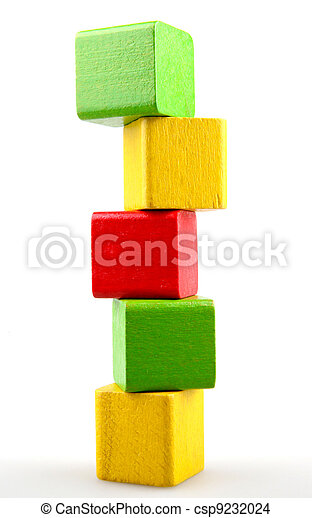 Wooden building blocks - csp9232024