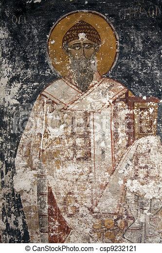 Byzantine Icons damaged - csp9232121