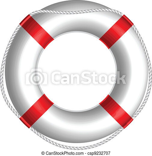 Vector illustration of Life Buoy - csp9232707