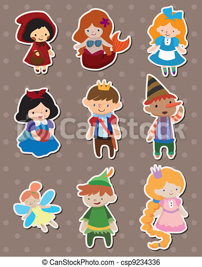 story people stickers - csp9234336