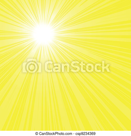 bright sun rays background - csp9234369