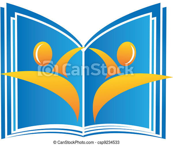 Book with students figures - csp9234533