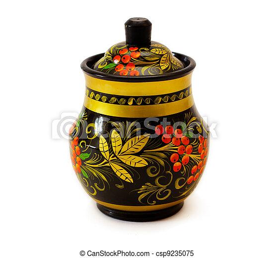 art de Khokhloma kitchenware - csp9235075