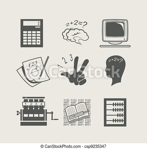 devices for calculation set icon - csp9235347