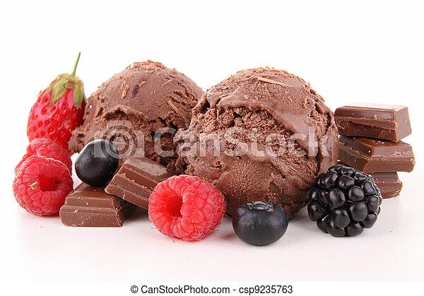 chocolate ice cream - csp9235763