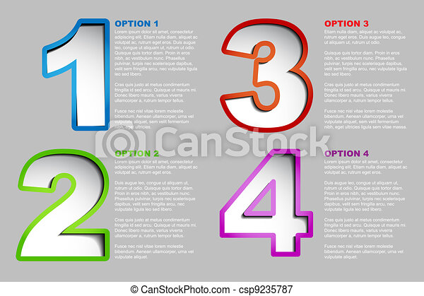 One two three four - vector progress background - csp9235787