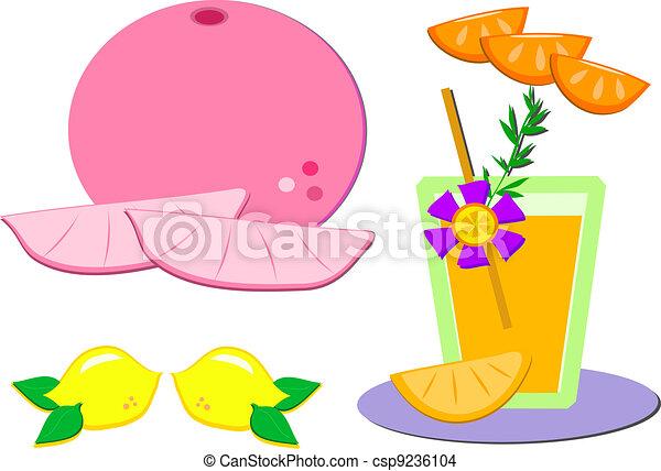 Mix of Sweet Citrus Fruits - csp9236104