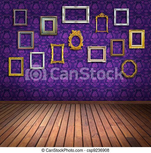 Fotos de vindima quadro roxo papel parede sala for Sala de estar 3x5