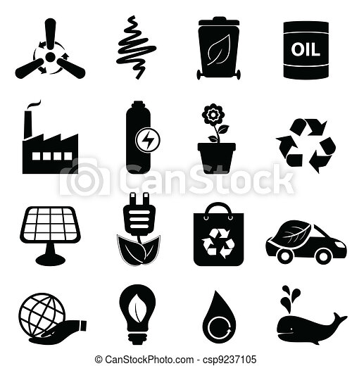Clean energy and environment icons - csp9237105