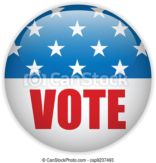 United States Election Vote Button. - csp9237493