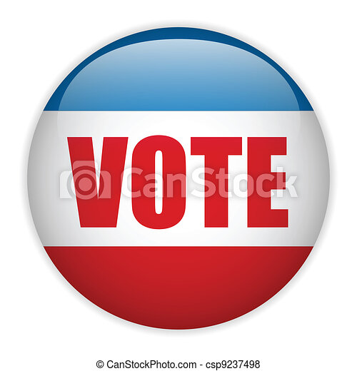 United States Election Vote Button. - csp9237498