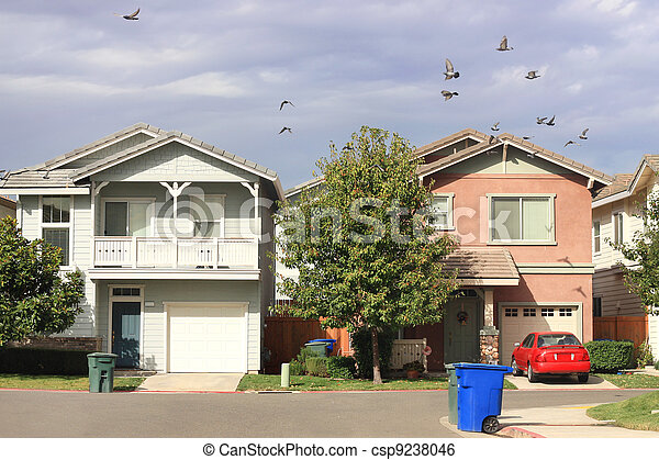 Standard Houses - csp9238046