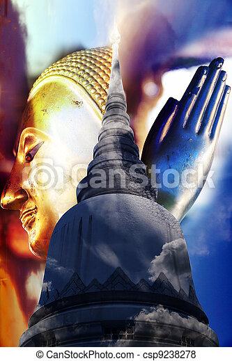 Pagoda Buddha in belief - csp9238278