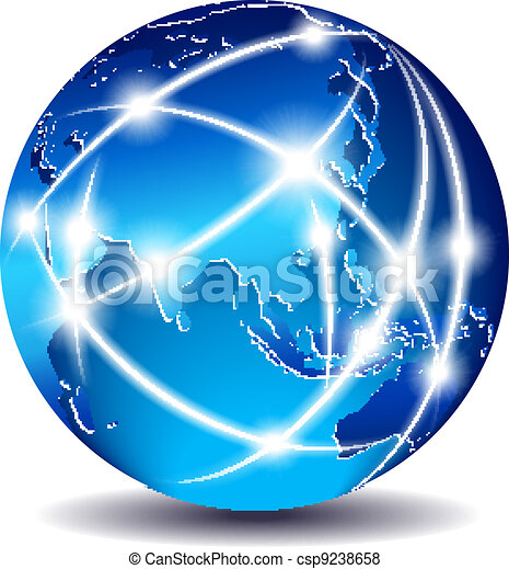 Communication World - Far East - csp9238658