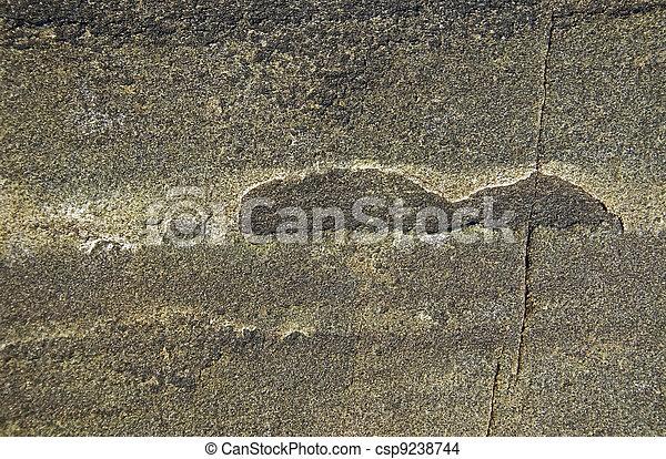 Fractured rural rock - csp9238744