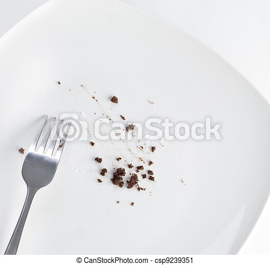 Stock Photography of Empty plate with crumbs k9239351 - Search Stock Photos, Pictures, Prints ... |Empty Plate With Crumbs Clipart