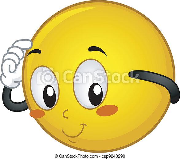Shy Smiley - csp9240290