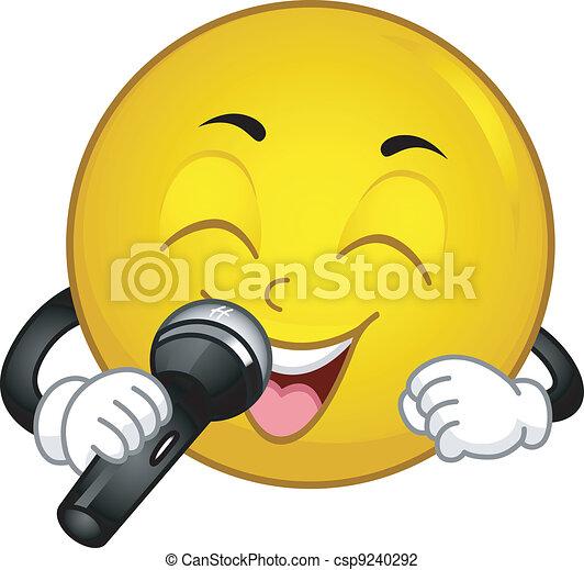 Singing Smiley - csp9240292