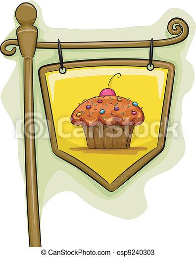 Cupcake Signage - csp9240303