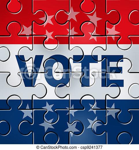 Voto, organização, político - csp9241377