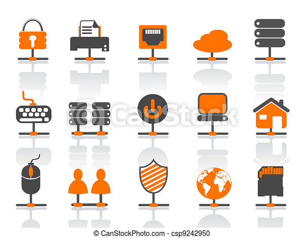 network connection icons set - csp9242950