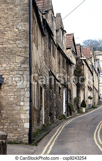 Typical British Terraced houses - csp9243254