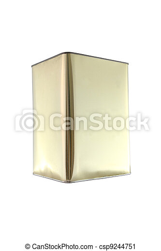 Side of rectangular can on white background. - csp9244751