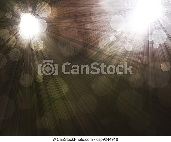 two spotlights - csp9244910