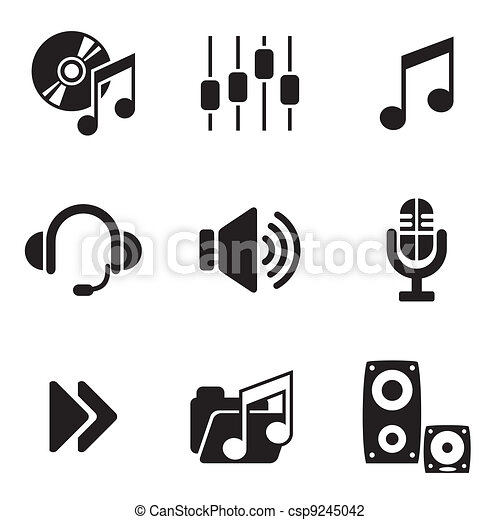 computer audio icons - csp9245042