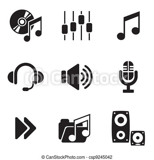 computer audio icons - csp9245042