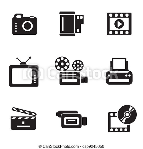 computer photo-video icons - csp9245050