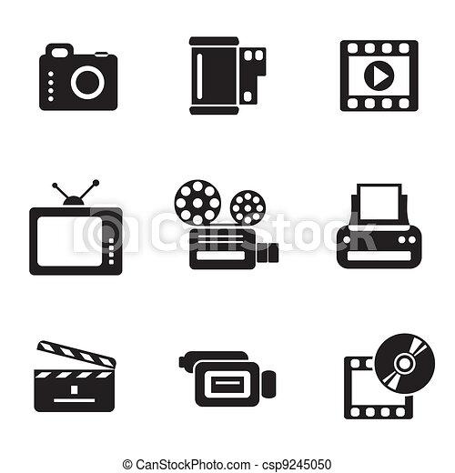computer photo-video icons - csp9245050