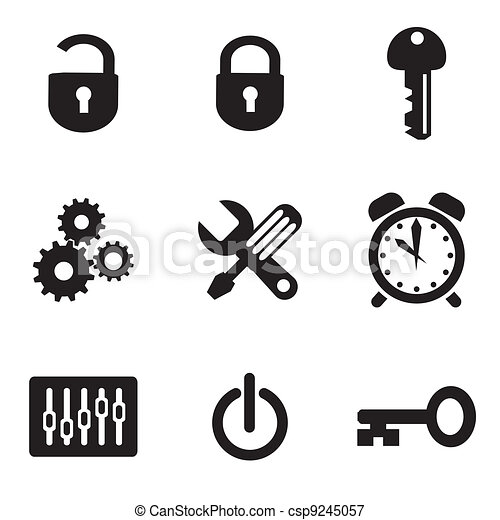 computer settings icons - csp9245057