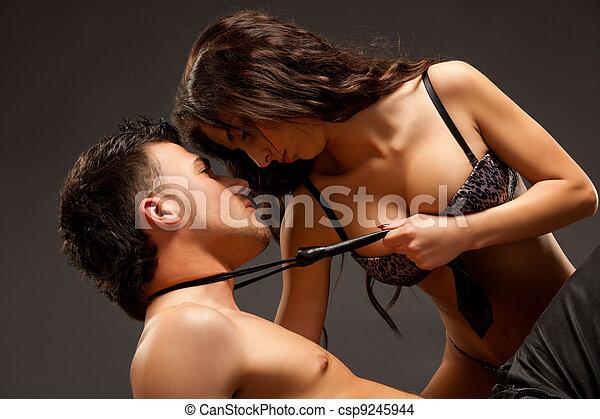 Fashion Naked Couple - csp9245944