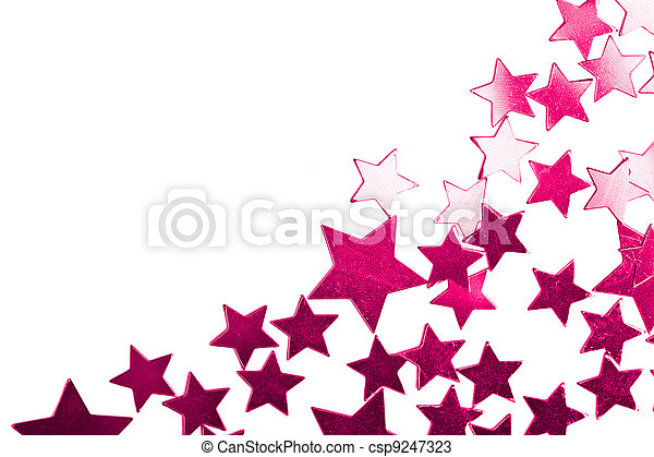 holiday purple stars isolated - csp9247323