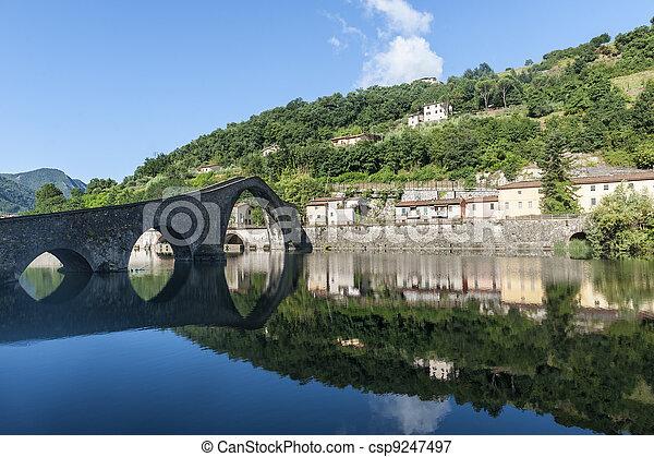 Ponte della Maddalena (Lucca, Tuscany) - csp9247497