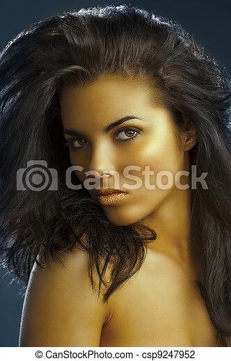 alluring golden girl - csp9247952