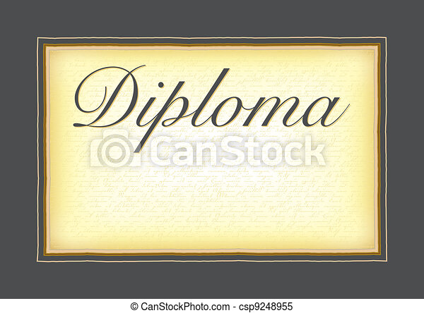 A model for the diploma, certificat - csp9248955