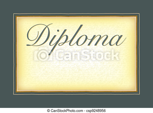 A model for the diploma, certificat - csp9248956