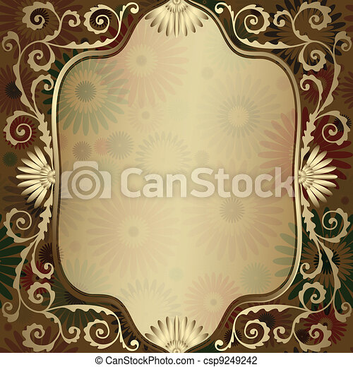 Vintage gold translucent frame - csp9249242