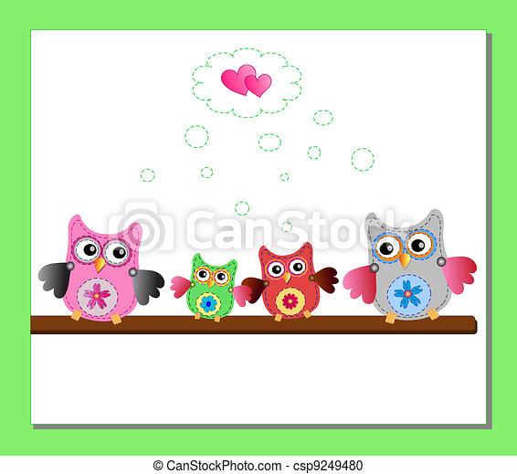 little sweet owl  - csp9249480