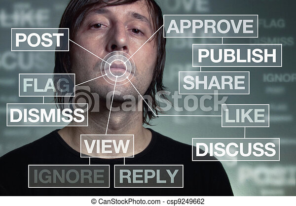 Social network addiction - csp9249662