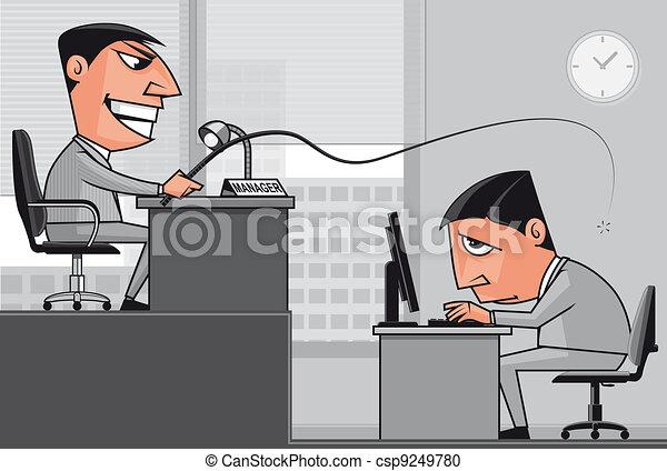 Working under the boss pressure - csp9249780
