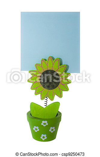 Memo holder with blank card - csp9250473