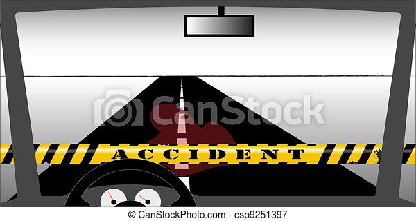 Windscreen accident - csp9251397