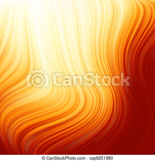 Abstract glow Twist with fire flow. EPS 8 - csp9251980